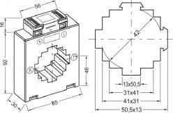 8512  transformateur de courant classique