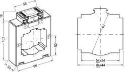 9640  transformateur de courant classique